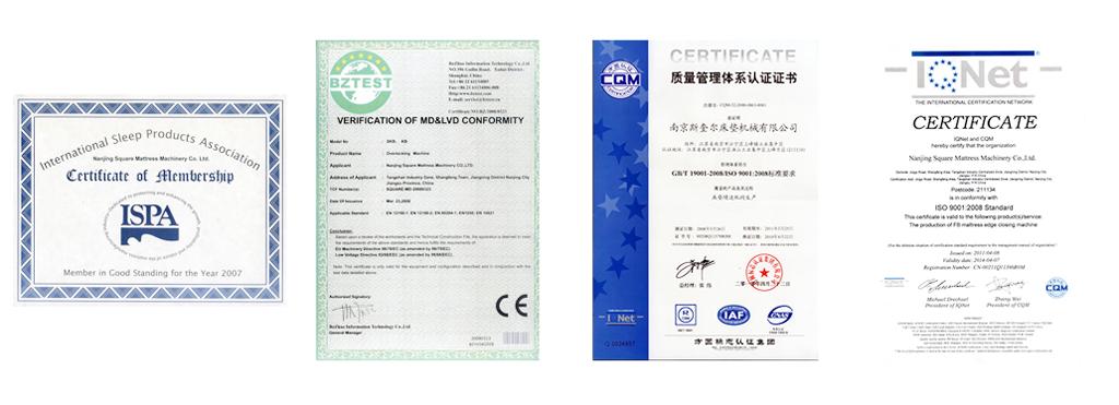 FB4A tape edge machine certificate