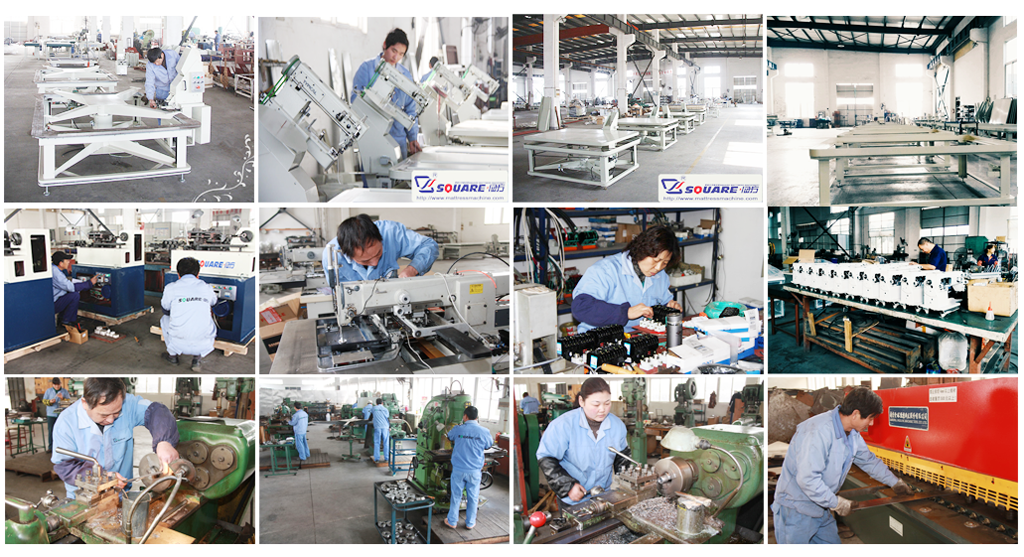 Nanjing square mattress machine factory-workshop