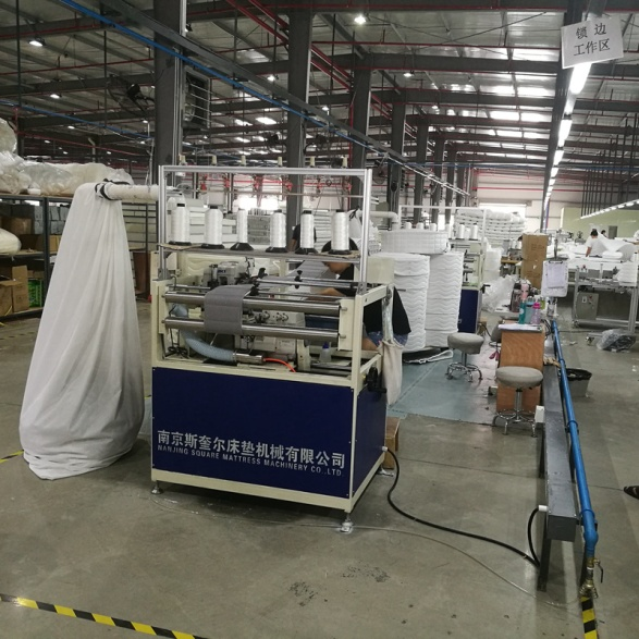 Mattress Flanging Machine with automatic waste collection device
