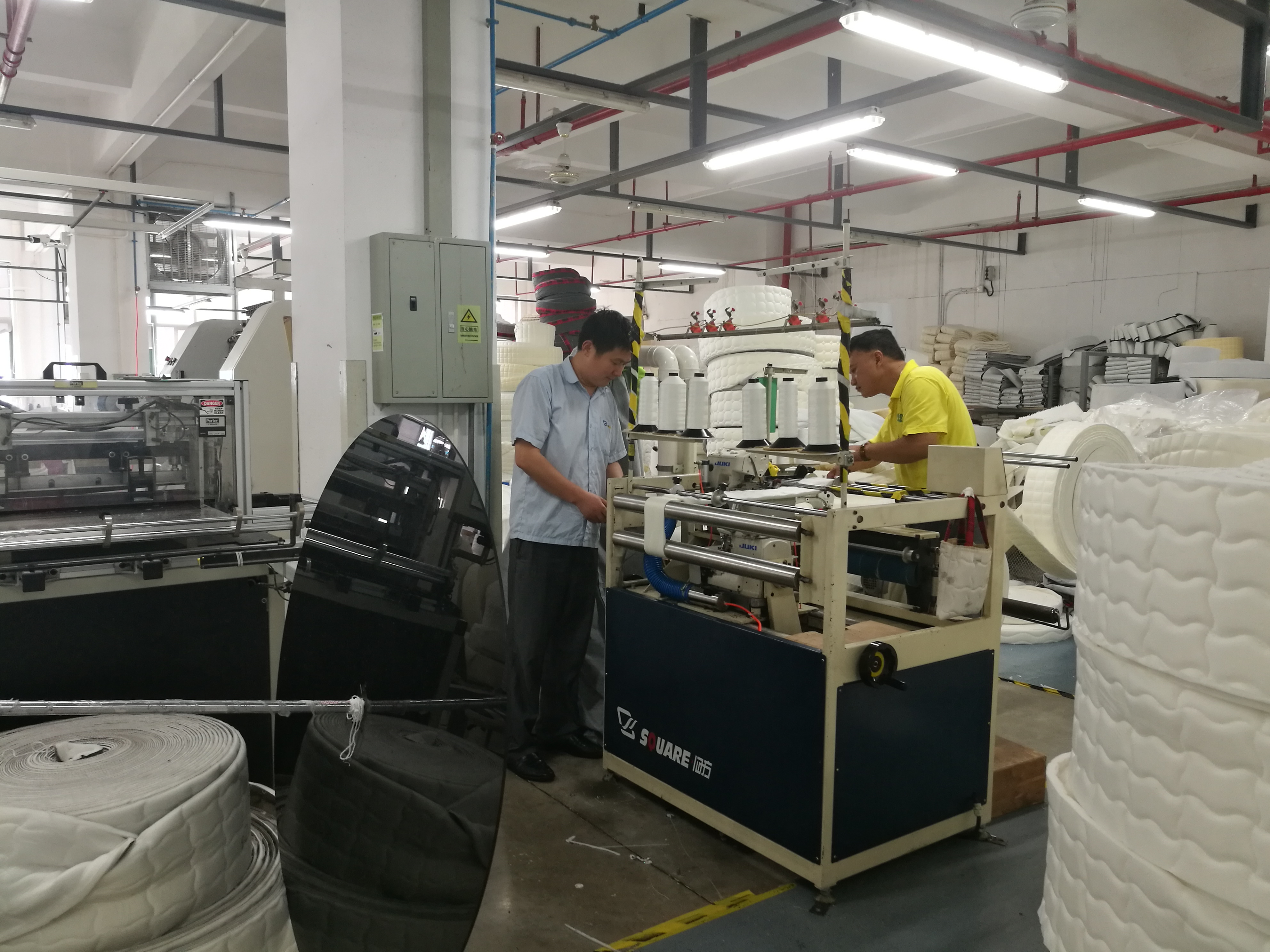 maintainence for old mattress machine