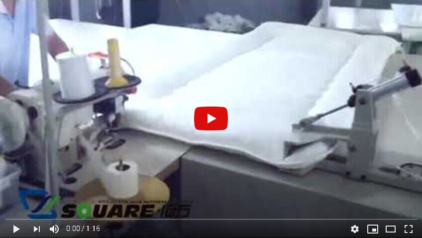 Mattress topper pad sewing machine